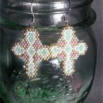Beautiful Cross Beaded Earrings