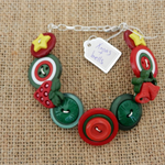 Beaut Buttons - Christmas bells button bracelet