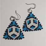 Triangle Beaded Earrings