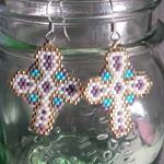 Beautiful Cross Beaded Earrings