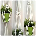 Macramé Twist Plant Hanger - Natural Cotton