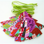 Christmas Tree Bunting Garland, Lime Green, made to order