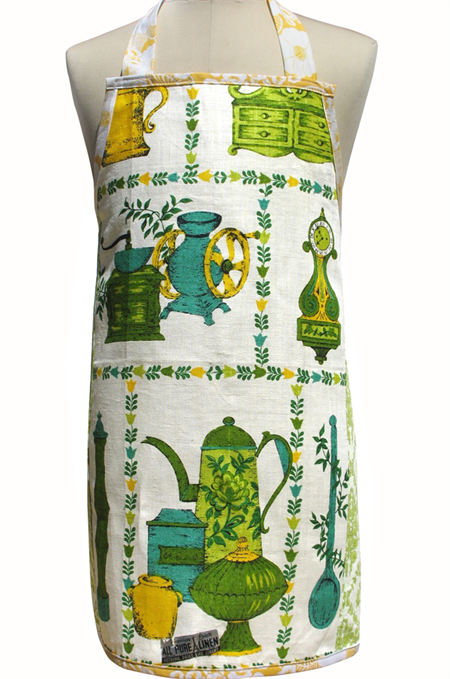 Metro Retro CHEF's KITCHEN Vintage Apron . Birthday Mother's Day Gift