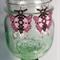 Pink Butterfly Beaded Earrings