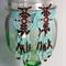 Aqua Butterfly Beaded Earrings