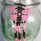 Pink Butterfly Beaded Earrings
