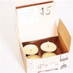 Wild orange & lemon-grass tea-light candles (pk of 4)