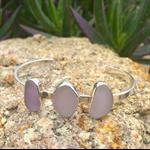 Purple Sea Glass Cuff Bracelet