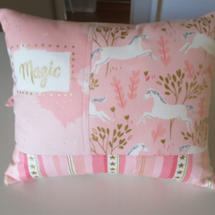 Pink nursery/bedroom cushion/unicorn decor