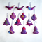 12 Felted Christmas Decorations 3 Trees 3 Baubles 3 Birds 3 Bells
