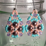 Cotton Candy Beaded Earrings