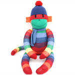 'Hamish' the Rainbow Sock Monkey  -  *ready to post*