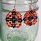 Hot Lava Beaded Earrings