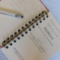 Hamlet notebook - Shakespeare - Notebook made from an upcycled book - Journal