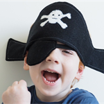 Pirate Hat and Patch set - Birthday party  - Pirate Party