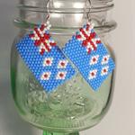 New Zealand Flag Beaded Earrings