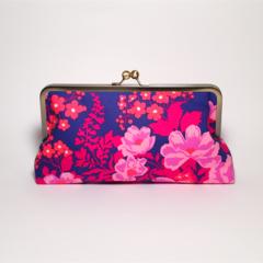 Midnight field large clutch purse