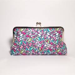 Tiny flowers large clutch purse