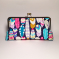 Feathers large clutch purse