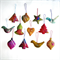 12 Felted Christmas Decorations 3 Trees 3 Baubles 3 Birds 1 Heart 1 Bell 1 Star