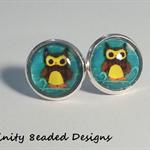 Owl Stud Earrings