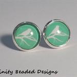 Bird Silhouette Stud Earrings