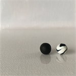 MIXIE MATCHIE - Black w/ Black + White Marble Studs