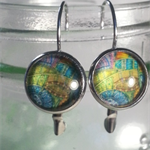 Artistic leverback Earrings