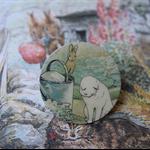 Handmade Paper Peter Rabbit Brooch ~ Ready to Post