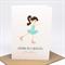 Birthday Card Girl - Girl Ice Skating - HBC233