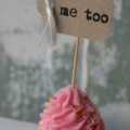 6 me too Cupcake Toppers ~ Weddings ~ Bridal Shower