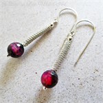 Beautiful Agate Sterling Silver Wire Wrapped and Coiled Earrings