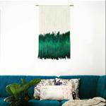 Emerald Dip Dye Wall Hanging Weaving Tapestry Macrame