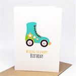 Birthday Card Girl - Rollerskate - HBC234