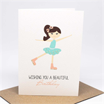 Birthday Card Girl - Girl Ice Skating - HBC233