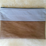 Riviera Tan Nappy Diaper Carry All Clutch Pouch Wallet