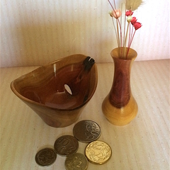 Miniature Set of Dead Finish Weed Pot and Eccentric Bowl (Item DF 053)