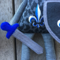 Knight in Shining Armour Softie (Blue)
