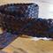 Plaited leather kids belt