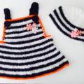 Baby Girl White Dress + Beanie Gift Set