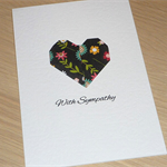 With Sympathy Card - origami heart