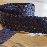 Plaited leather kids belt
