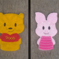 Winnie the Pooh and Friends Finger Puppet Set