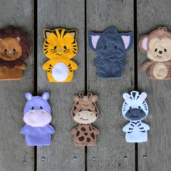 Jungle Animals Finger Puppet Set