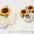 Sunflower Shoes and Hat Gift Set for baby girl - NURSEY GIFT SET
