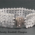 White Lace Beaded Bracelet