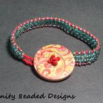 Button Beaded Bracelet