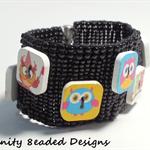 Owl Button Beaded Bracelet