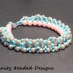 Braided Pearls Beaded Bracelet