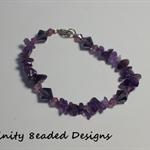 Amethyst and Bicone Beaded Bracelet